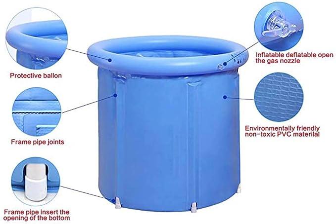 PVC SPA Klappbadewanne Sauna Dampfbadewanne Erwachsenenbadewanne Tragbare Badewanne f/ür den Haushalt Schildeng Tragbare aufblasbare Badewanne