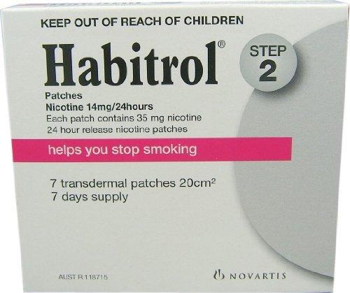 Novartis Nicotine Transdermal System Stop Smoking Aid Patch, Step 2, 14 mg - 7 ea by NOVARTIS CONSUMER HEALTH