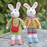 mai tied - Hand-Crocheted Bunny Buddies - Beautiful Figurines are Perfect for Easter!