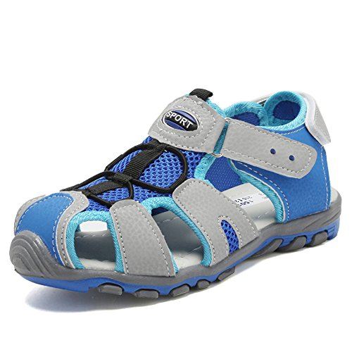 CIOR Boy Sports Sandals Closed Toechildren Athletic Beach Shoes (Toddler/Little Kid/Big Kid) SC1503 Blue 25