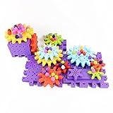 Ireav 89PCS Children's Plastic Building Blocks Toys Electric DIY Creative Educational Toy Gear Blocks Toys for Children