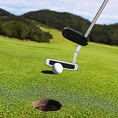 Golf Putter,Slider Laser Sight Training Aid Practice Aim Line Corrector Pointer Trainer Guide