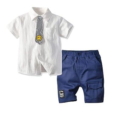 Conjunto de Trajes de Dos Piezas para Niños, Camisa de Manga Corta ...