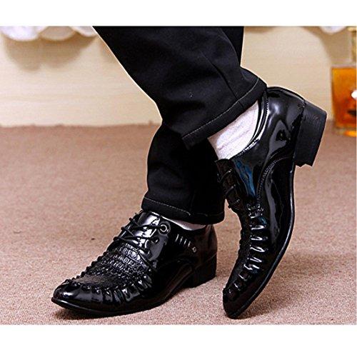 WZG zapatos de los hombres ocasionales de los nuevos hombres señalaron los zapatos de hombre zapatos de primavera y autumn barber Black
