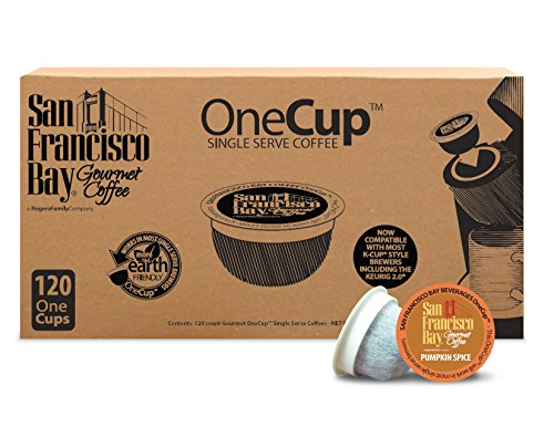 San Francisco Bay OneCup, Pumpkin Spice, 120 Count- Single Serve Coffee, Compatible with Keurig K-cup Brewers, Flavored