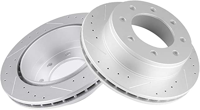 Metallic Pad For 2003-2014 Chevrolet Express 2500 4 New Brake Rotors 2 Front
