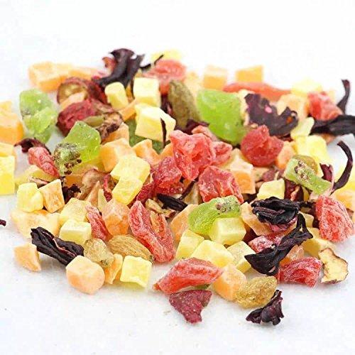 ☕ Fruit Tea Pleasure. ☕ Non GMO, Organic, 100% Natural Chinese tea ☕ Caffeine free ☕ Vitamines Rich ☕Hibiscus, melon, kiwi, papaya, pineapple☕Weight: 3.84 ounces/100g. - Herbal Organic Fruit