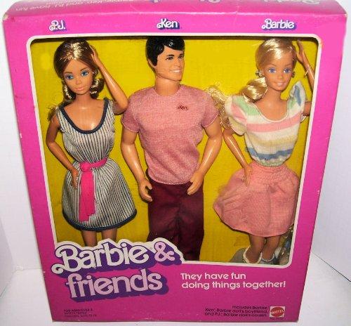1982 Vintage Barbie & Friends PJ Ken Barbie 3 Doll Gift Set