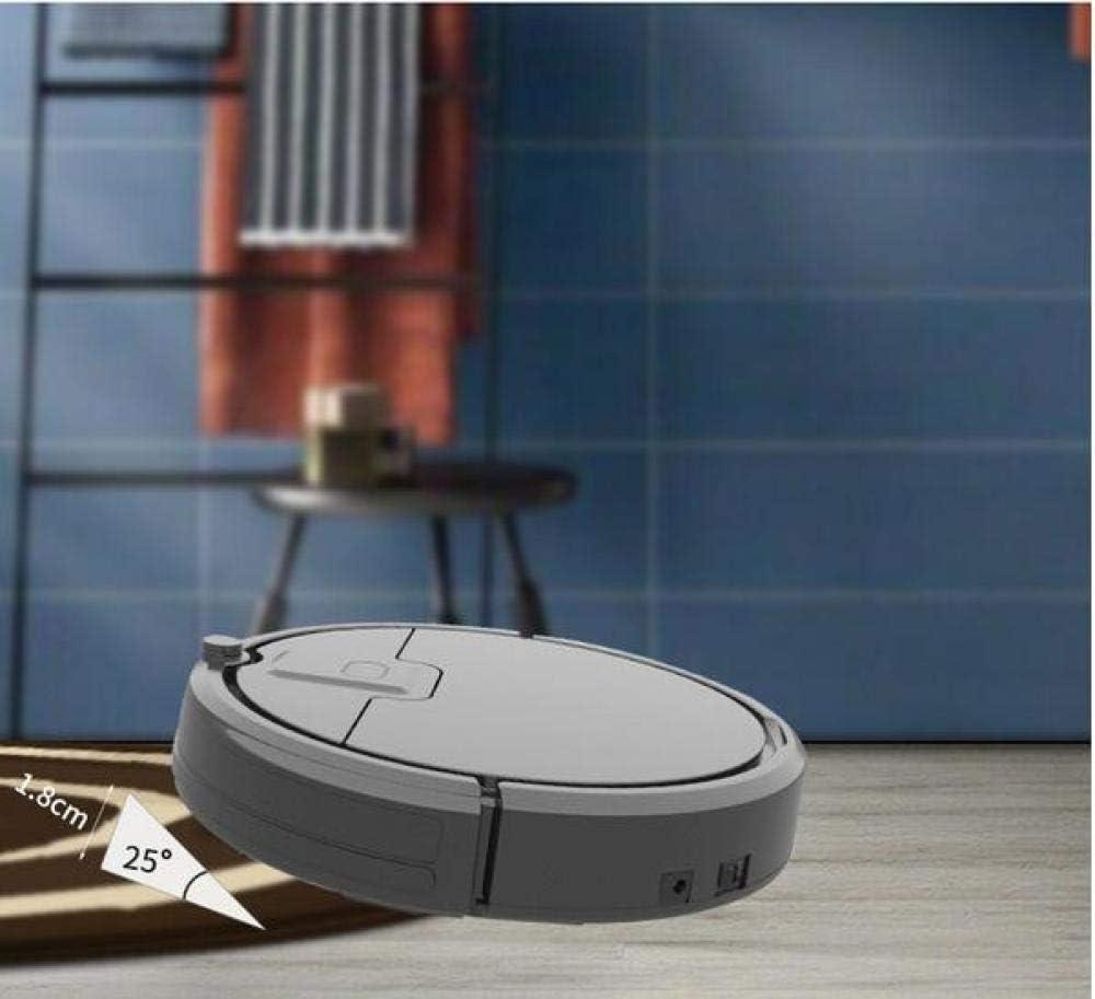 WANGXIAO Aspirateur Robot,Vadrouille Super Silencieuse Modes De Nettoyage Multiples Capteur Anti-Collision à Balayage Automatique Super-Mince,Black Black