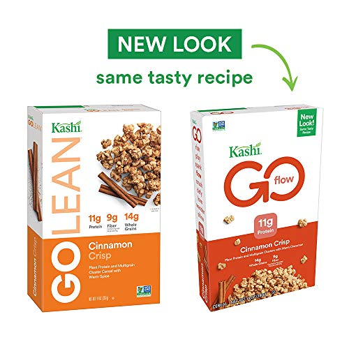 Kashi GOLEAN, Breakfast Cereal, Cinnamon Crisp, Non-GMO Project Verified, 14 oz(Packaging may vary)(Pack of 4)