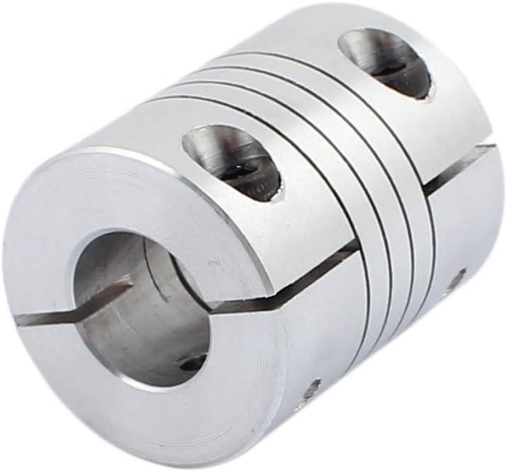 uxcell/® 8mm to 10mm Shaft Coupling 40mm Length 32mm Diameter Stepper Motor Coupler Aluminum Alloy Joint Connector for 3D Printer CNC Machine DIY Encoder