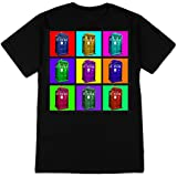 Doctor Who - TARDIS Psychedelic Squares T-Shirt Size M