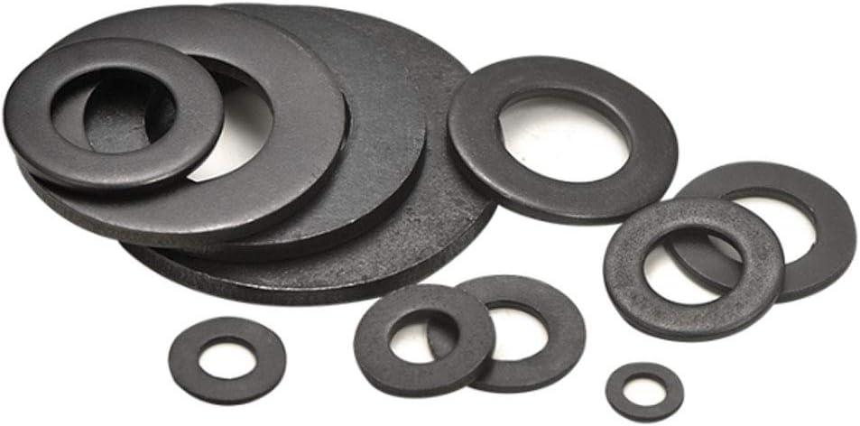 20 Piezas Acero al Carbono Arandelas Planas Metal Espaciadores Redondos M12 M14 M16 Negro SENDILI 20 Piezas Negro Arandelas M12*24 * 2