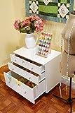 quilt cabinet - Kangaroo Kabinets K7811 Joey, Three Drawer Sewing Storage Sidekick, Ash White