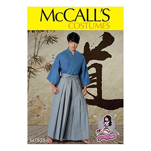 Samurai Hakama Costumes - McCalls Mens Easy Sewing Pattern 7525