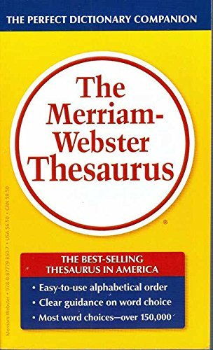 (The Merriam-Webster Thesaurus)