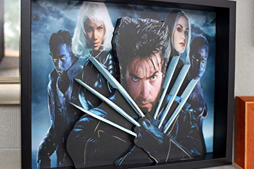 Wolverine with Xmen Crew, Picture Framed 3D Art X-Men Marvel Superhero Hugh Jackman, Storm, Mystique, Rogue, ()