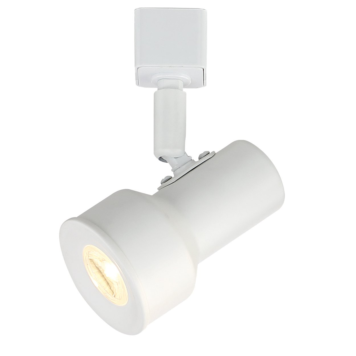 Designers Fountain EVT1030D3-06 Small Solid White Step Cylinder Integrated LED Track Lighting Head in 3000K 6 in