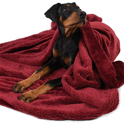 (Large Dog Blanket,Super Soft Warm Sherpa Fleece Plush Dog Blankets and Throws for Large Medium Dogs Puppy Doggy Pet Cats,60