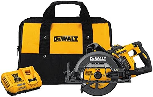 DEWALT DCS577X1 FLEXVOLT 60V MAX 7-1 4 Worm Style Saw Kit, 9.0Ah Battery
