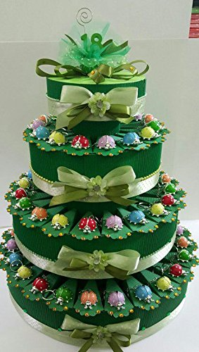 Torta Bomboniere Coccinelle Colorate A Portachiave Compleanno 18