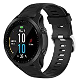 for Garmin Forerunner 945 935 / Fenix5 / Quatix5 Solid Color Universal GPS Silicone Rubber Watch Band Strap,Soft Silicone Sport Strap with Ventilation Holes Breathable Replacement Bands