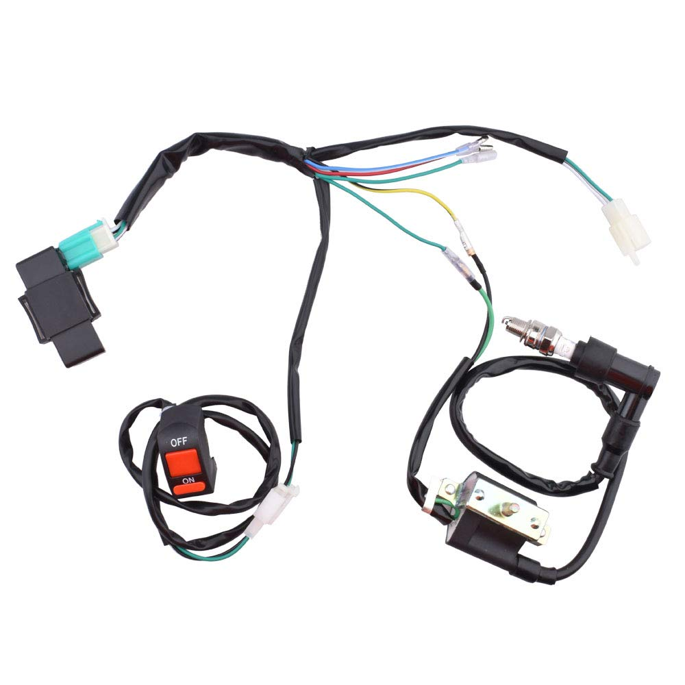 Wire Wiring Harness Loom 90cc 110cc 125cc 140cc 150cc Pit Pro Trail Automotive Supplies Amazon Com Minireen Magneto Coil Cdi Kill Switch For 50cc