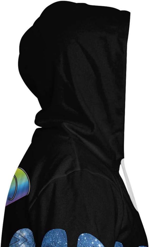 LUO Felpe Aassdd Felpe con stampa 3D con tasca Felpa con cappuccio da uomo Felpa con cappuccio allentata Streetwear,L * L