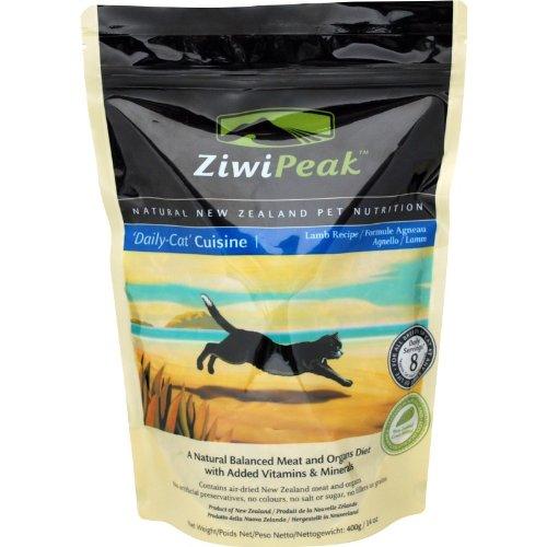 ZiwiPeak Real Meat Grain-Free Air-Dried Raw Cat Food, Lamb Recipe, 14oz, My Pet Supplies