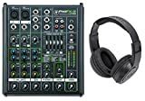 New Mackie PROFX4v2 Pro 4-Ch Compact Mixer w Effects PROFX4 V2+Samson Headphones