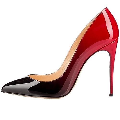 EKS - Zapatos de Tacón Mujer , color Rojo, talla 46 EU