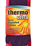 Womens Purple Thermal Insulated Heat Trapping Gloves