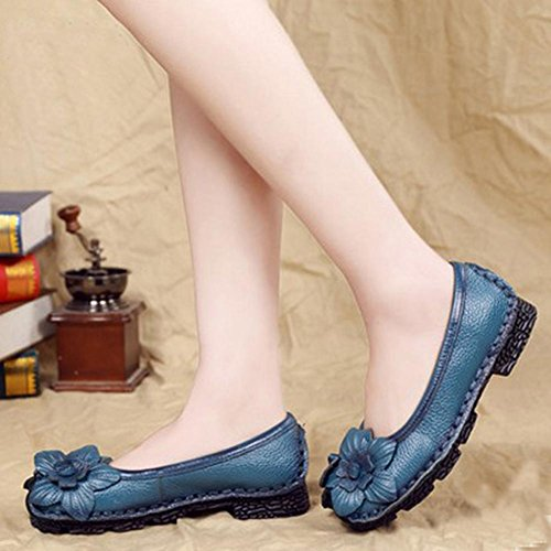 Shoes YC Ball Comfortable Platform Sandals Blue Leather Women'S Pump L Bottom Soft Flat Wedding Single Spring Satin xA6nBZw