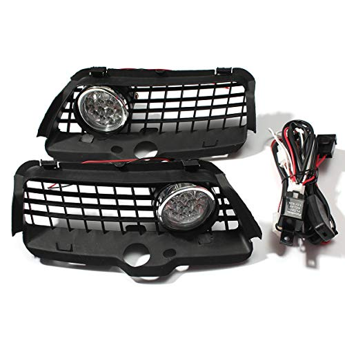 Gavita-Star - For Volkswagen for VW MK3 Golf Jetta 1992-1998 Pair Fog Light Lamp Driving Lamp Grille with Connecting Wire Cable