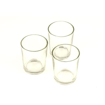 amazon com clear glass votive holders 2 5 pack of 12 home kitchen
