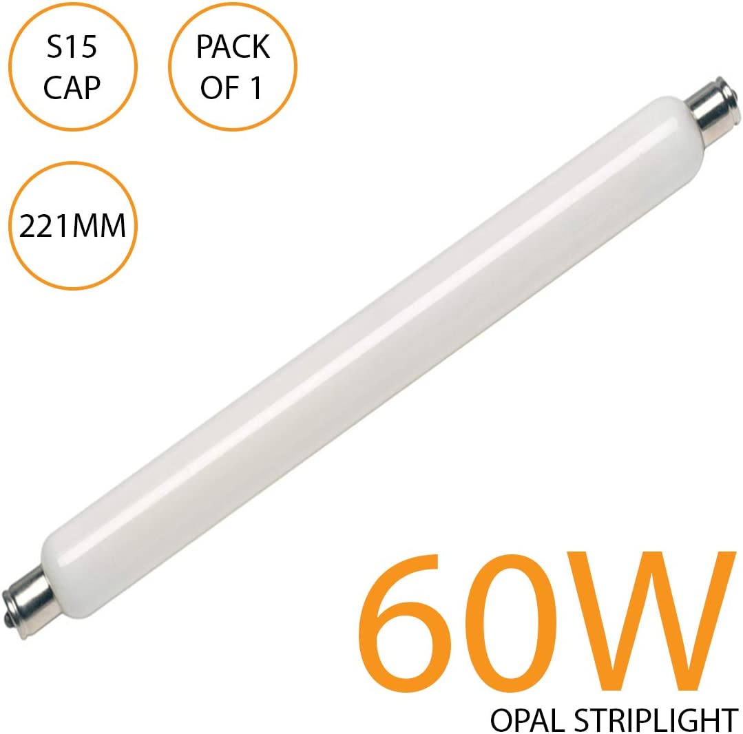 Double Ended Cap 221mm LED Strip Lamp