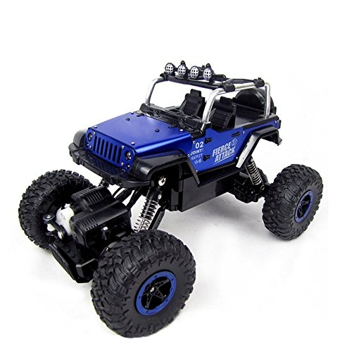 STOTOY RC Cars Off-Road Rock Crawler Racing Vehicle 2.4Ghz 4WD High Speed 1:18 Radio Remote Control Buggy (Blue), D7100+LED Spotlight+Tripod