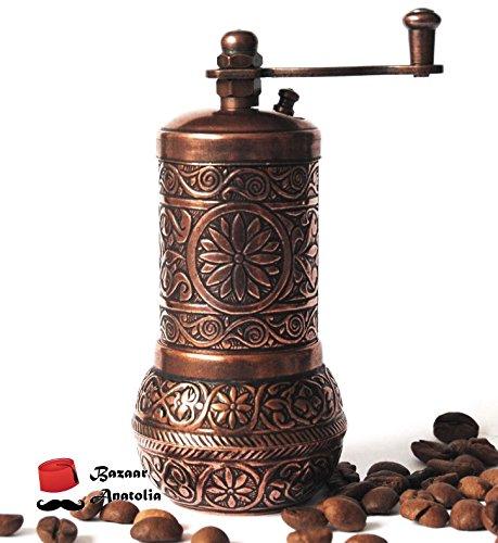 Turkish Grinder, Spice Grinder, Salt Grinder, Pepper Mill 4.2'' (Antique Copper)