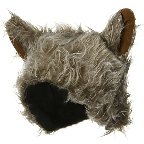 [Wolf Hat - Grey Brown OSFM] (Womens Baseball Costumes)