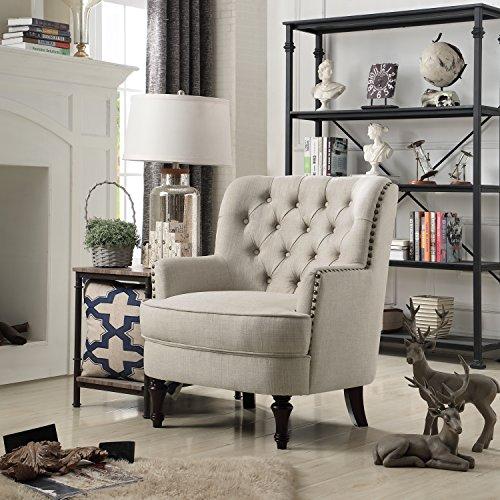 Rosevera Jagger Arm Chair, Beige