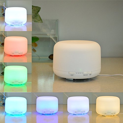 large miniso muji aromatherapy essential oil aroma diffuser 500ml 7 color ultrasonic humidifier. Black Bedroom Furniture Sets. Home Design Ideas