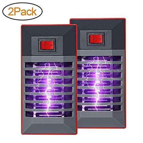Gogogu 2 Pack Bug Zapper, Plug in Electronic Insect Mosquito Killer Lamp Eliminates Most Flying Pests Gnat with Night Light