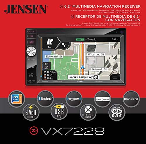 "Jensen VX7228 6.2"" LED Backlit LCD Multimedia Touch Screen D"