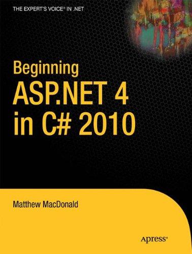 Beginning ASP.NET 4 in C# 2010 (Expert's Voice in .NET)