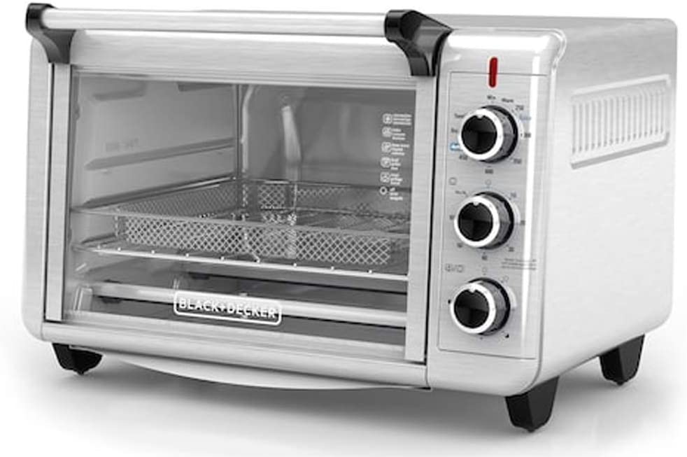 Spectrum Brands Black & Decker Crisp N' Bake Air Fry Toaster Oven TO3215SS, Silver