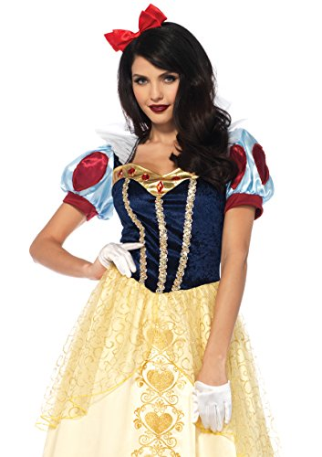 Leg Avenue Women's Deluxe Classic Snow White Halloween Costume, Multi Medium -