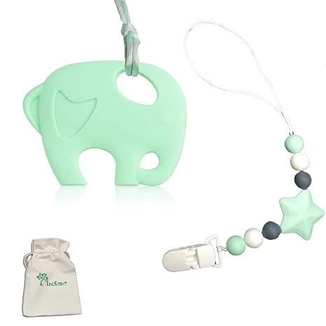 Inchant dentición collar y Chupete clip - silicona de bolas ...