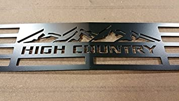 Chevy High Country 2500 >> Mountains2metal High Country Edition Black Compatible With 2015 2019 Chevy 2500 3500 Hd M2m 400 130 1