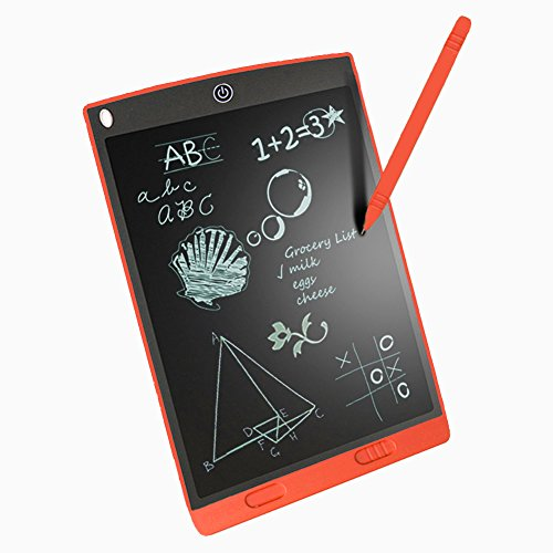 12-inch LCD Writing Tablet Electronic Drawing Pads for Kids Bussiness Office Graphic Tablet (Red)