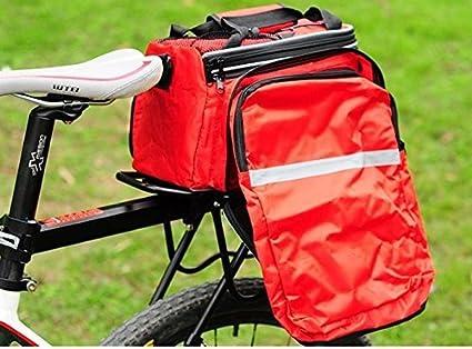 Hi8Cyclisme étanche sacoche sac à bandoulière sac de selle multifonction Vélo Siège arrière Panier de transport avec imperméable, Homme, Red